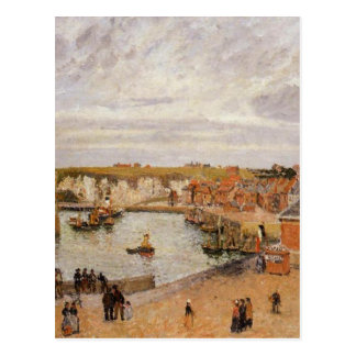 The Port of Dieppe by Camille Pissarro Postcard
