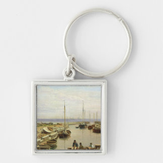 The Port of Dragor, 1826 Keychain