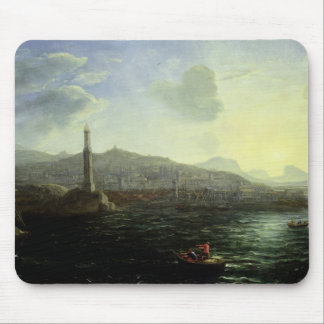 The Port of Genoa, Sea View Mouse Pad
