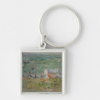 The Port of Gorey on Jersey, 1886 Keychain