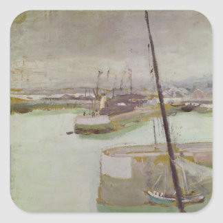 The Port of Honfleur, 1919 Square Sticker