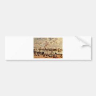 The Port of Le Havre by Camille Pissarro Bumper Sticker