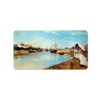 The port of Lorient by Berthe Morisot Personalized Address Label