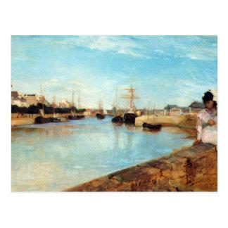 The port of Lorient by Berthe Morisot Postcard