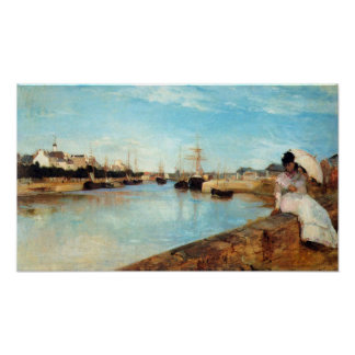 The port of Lorient by Berthe Morisot Poster