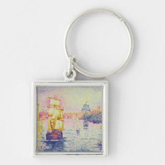 The Port of Marseilles, c.1909 (oil on canvas) Keychain
