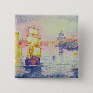 The Port of Marseilles, c.1909 (oil on canvas) Pinback Button