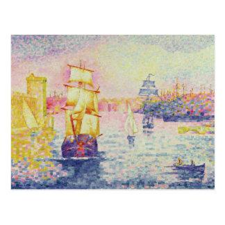 The Port of Marseilles, c.1909 (oil on canvas) Postcard