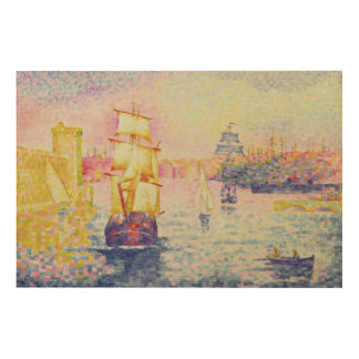 The Port of Marseilles, c.1909 (oil on canvas) Wood Wall Decor