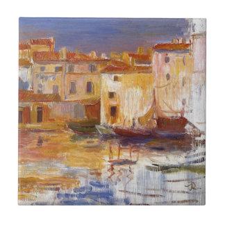 The Port of Martigues by Pierre-Auguste Renoir Ceramic Tile