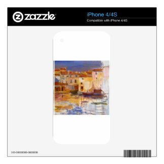 The Port of Martigues by Pierre-Auguste Renoir Decal For The iPhone 4