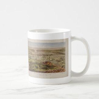 The Port of New York Bird's Eye View in 1872 Coffee Mug