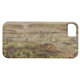 The Port of New York Bird's Eye View in 1872 iPhone 5 Covers