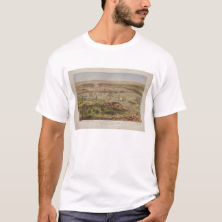 The Port of New York Bird's Eye View in 1872 T-Shirt