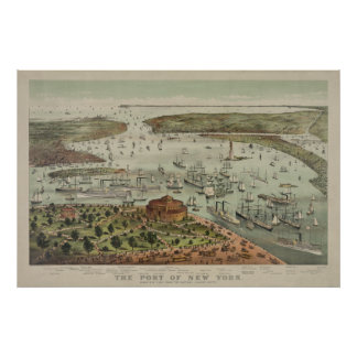The Port of New York from the Battery Print