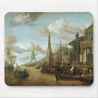 The Port of Rhodes Mouse Pad