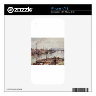 The Port of Rouen 2 by Camille Pissarro Decal For The iPhone 4S
