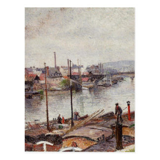 The Port of Rouen 2 by Camille Pissarro Postcard