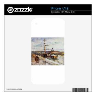 The Port of Rouen by Camille Pissarro Skins For The iPhone 4