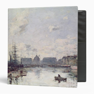 The Port of Trade, Le Havre, 1892 3 Ring Binder