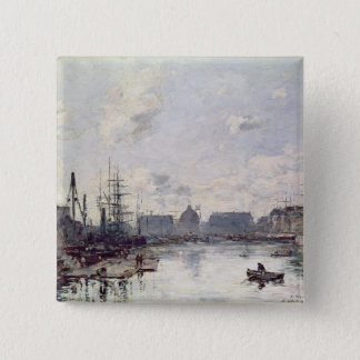 The Port of Trade, Le Havre, 1892 Pinback Button