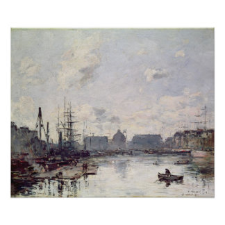 The Port of Trade, Le Havre, 1892 Poster