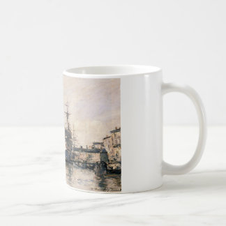 The Port of Trouville by Eugene Boudin Coffee Mug