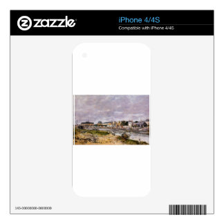 The Port of Trouville by Eugene Boudin Skin For The iPhone 4