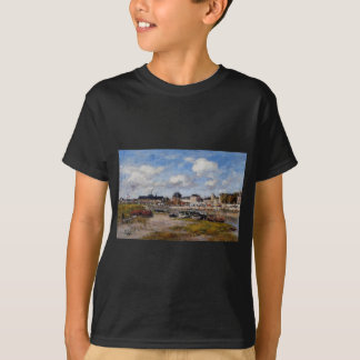 The Port of Trouville, Low Tide by Eugene Boudin T-Shirt