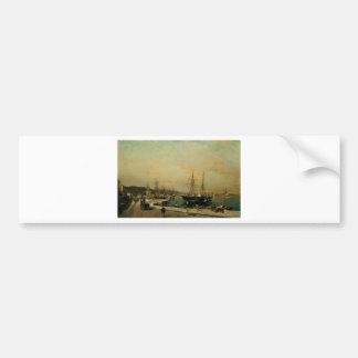 The port of Volos by Konstantinos Volanakis Bumper Sticker