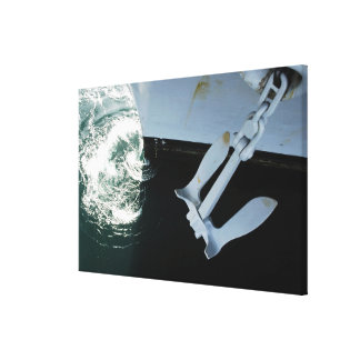 The port side Mark II Stockless Anchor Canvas Print