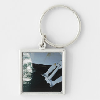 The port side Mark II Stockless Anchor Silver-Colored Square Keychain