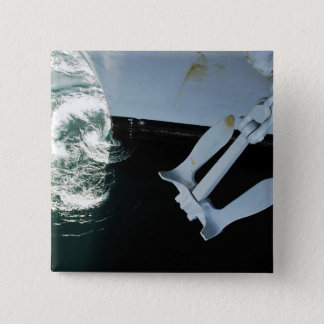 The port side Mark II Stockless Anchor Pinback Button