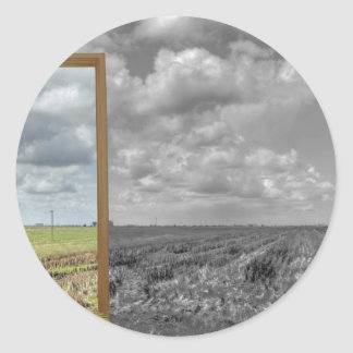 The portal for the crop circle artist. classic round sticker