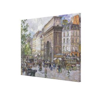 The Porte Saint-Martin, 1898 Canvas Print