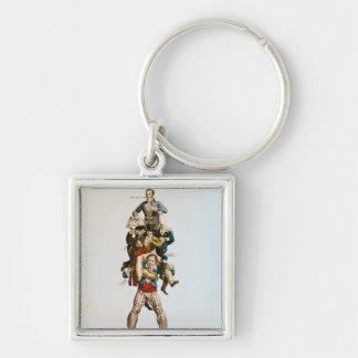The Porter or, The Imposing Burden, c.1820 Silver-Colored Square Keychain