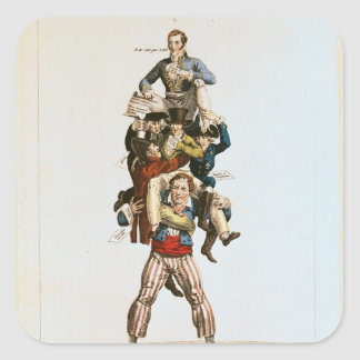 The Porter or, The Imposing Burden, c.1820 Square Sticker