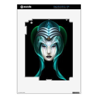The Portrait Of Cyiria ISO Black Decal For The iPad 2