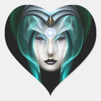 The Portrait Of Cyiria ISO Black Heart Sticker