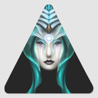 The Portrait Of Cyiria ISO Black Triangle Sticker