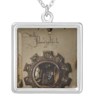 The Portrait of Giovanni  Arnolfini Silver Plated Necklace
