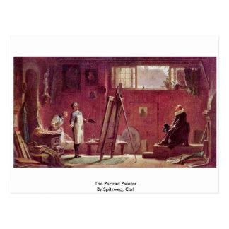 The Portrait Painter By Spitzweg, Carl Postcard