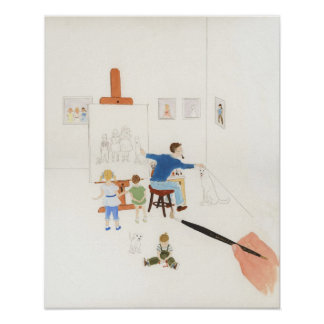 The Portrait Painter water color painting Poster