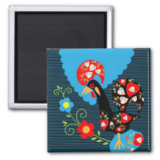 The Portuguese Rooster 2 Inch Square Magnet