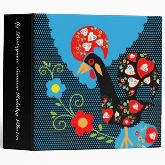 The Portuguese Rooster 3 Ring Binder