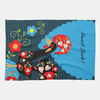 The Portuguese Rooster Hand Towel