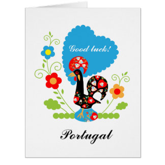 The Portuguese Rooster of Luck Large Greeting Card