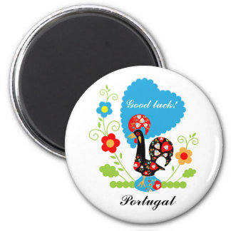 The Portuguese Rooster of Luck 2 Inch Round Magnet
