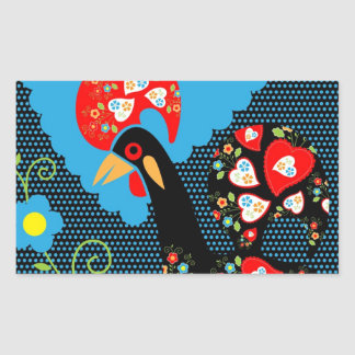 The Portuguese Rooster Rectangular Sticker
