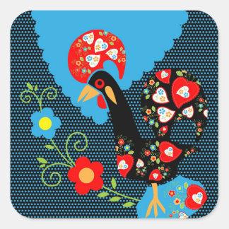The Portuguese Rooster Square Sticker